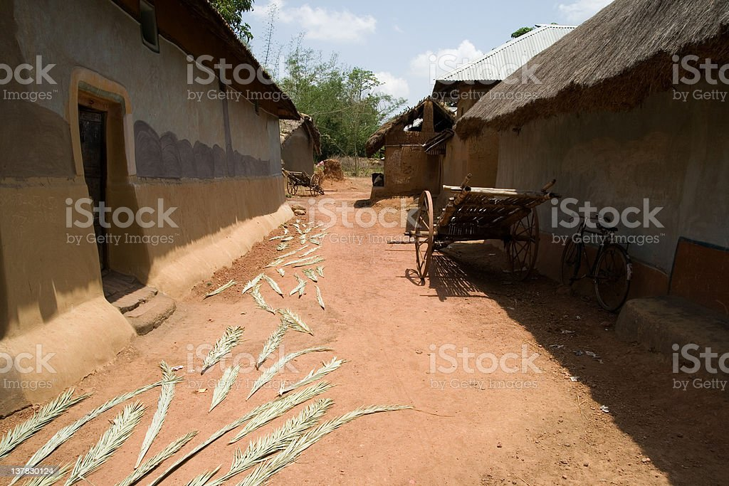 tribal village royalty-free stock photo
