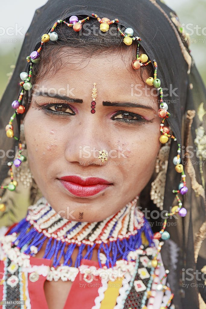 Tribal Woman Rajasthan India stock photo