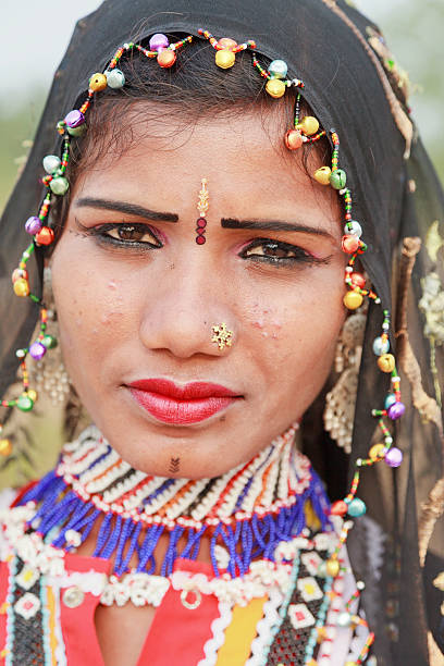Tribal Woman Rajasthan India stock photo