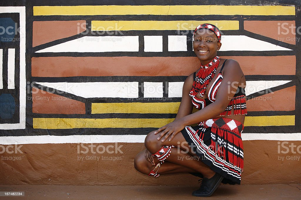 Tribal Zulu woman from South Africa stock photo
