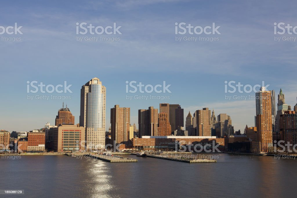 Tribeca Manhattan Skyline royalty-free stock photo