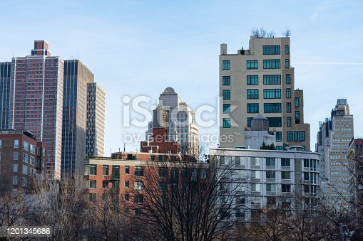 istock Tribeca New York Skyline with mostly Residential Skyscrapers 1201345686