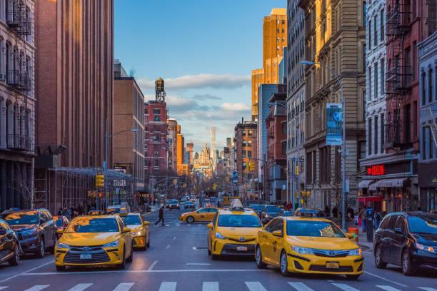 Tribeca Straßen Manhattan Wahrzeichen New York City USA – Foto