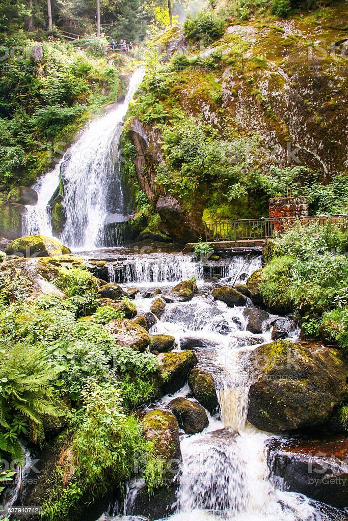 Triberg waterfall in black forest stock photo