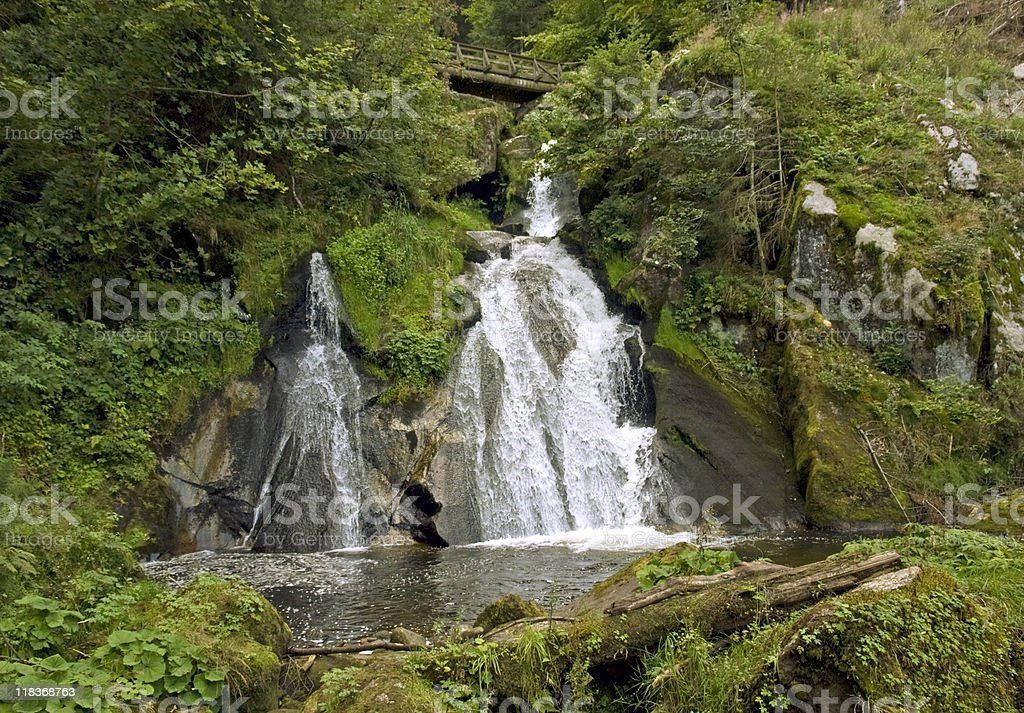Triberg Waterfalls in the Black Forest royalty-free stock photo