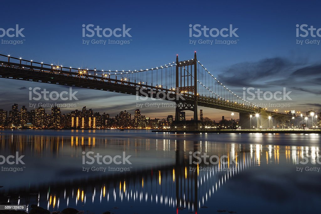 Triboro Bridge - R.F.K. Bridge tunnel stock photo