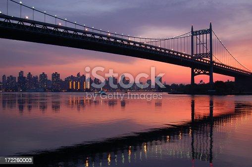 Triboro bridge connecting Queens, Manhattan, and the bronx