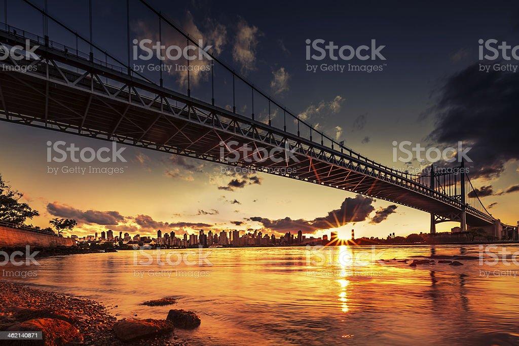 Triboro Sunset stock photo