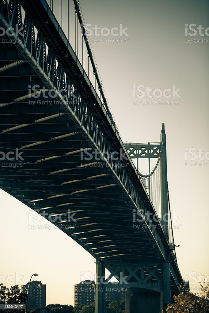 JFK Triborough Bridge, Astoria, Queens, New York City stock photo