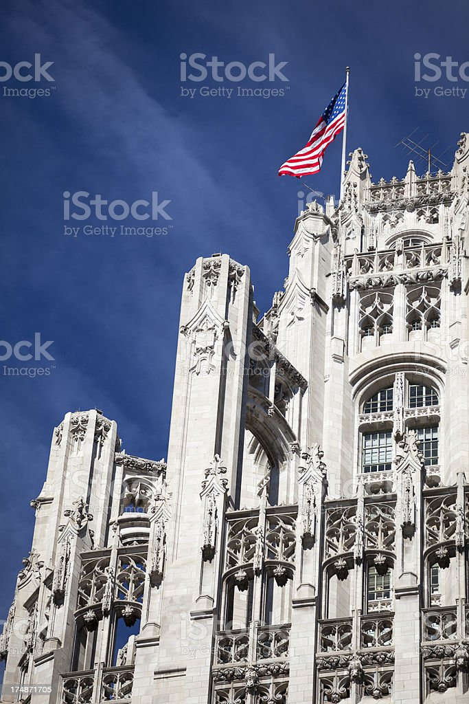 Tribune Tower in Chicago royalty-free stock photo