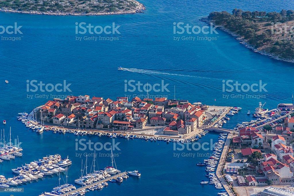 Tribunj aerial royalty-free stock photo