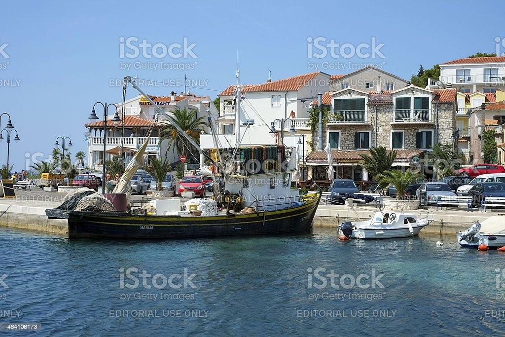 Tribunj Seaport royalty-free stock photo