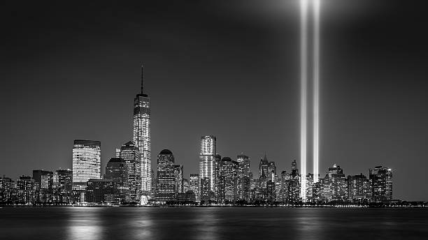 Tribute in Light 2013 Tribute in Light memorial on September 11, 2013 in Jersey City, New Jersey. 2013 stock pictures, royalty-free photos & images