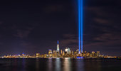 istock Tribute in Light from Liberty State Park, New Jersey 659622088
