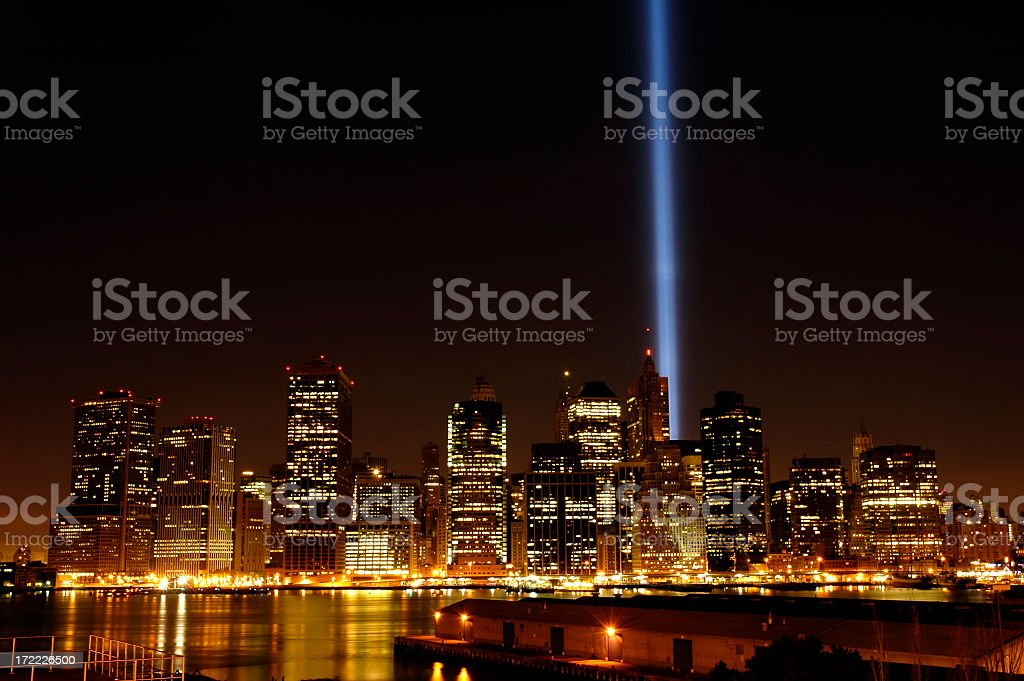 Tribute in Light royalty-free stock photo