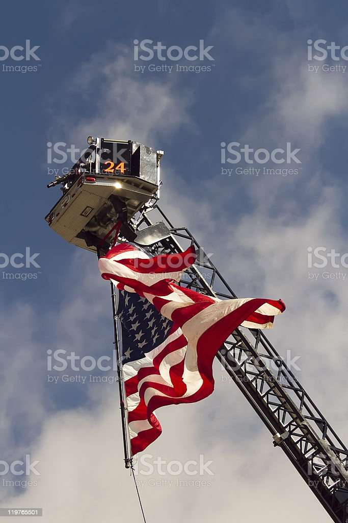 Tribute to September 11 (911) royalty-free stock photo