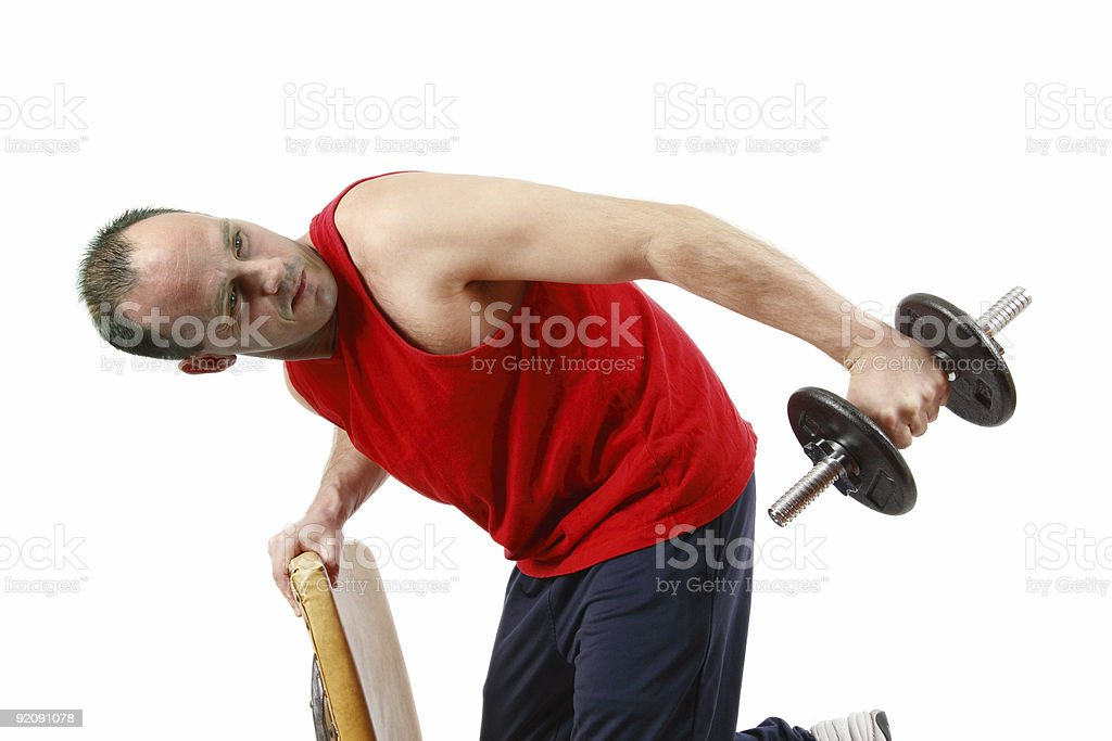 Tricep Excercise stock photo
