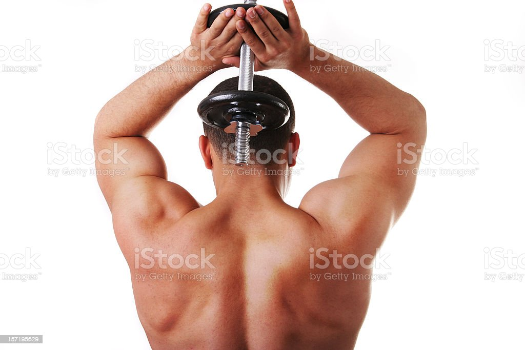 tricep extensions royalty-free stock photo