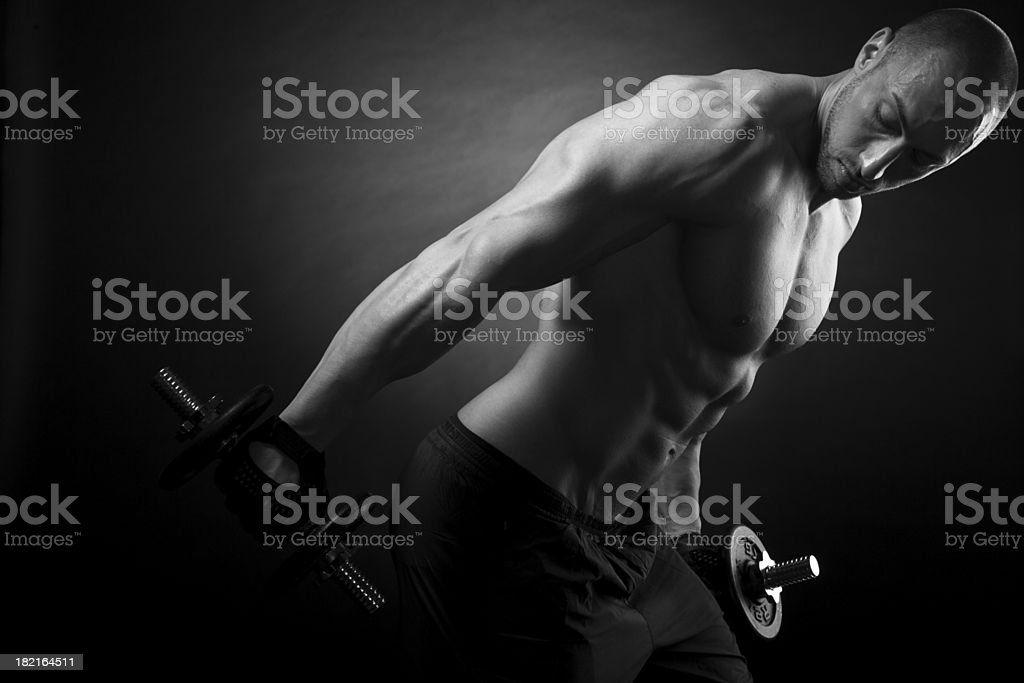 Tricep Workout royalty-free stock photo
