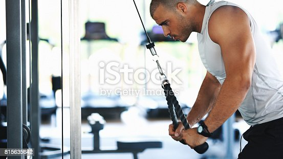 istock Triceps extension exercise. 815635642