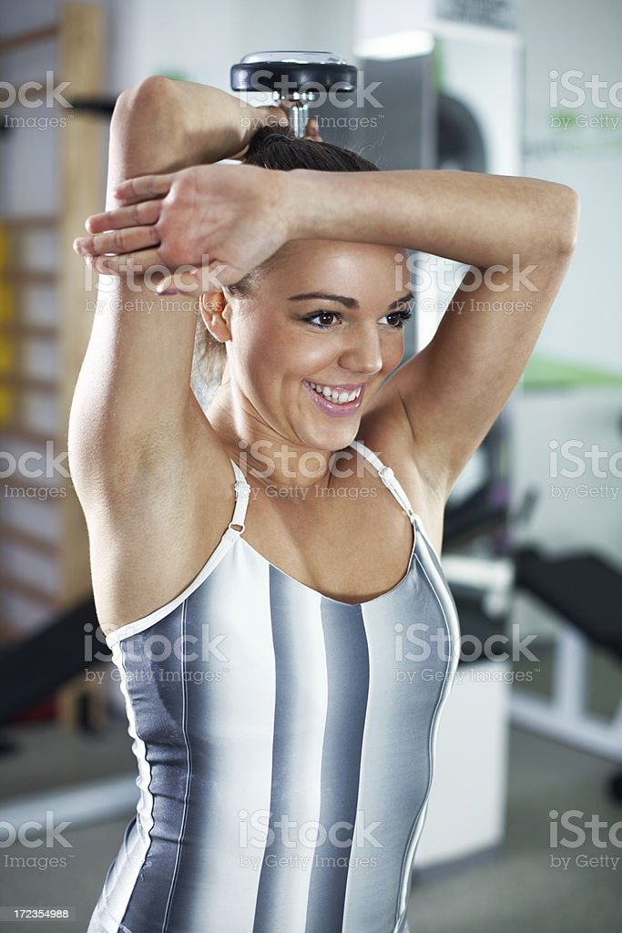 Triceps royalty-free stock photo