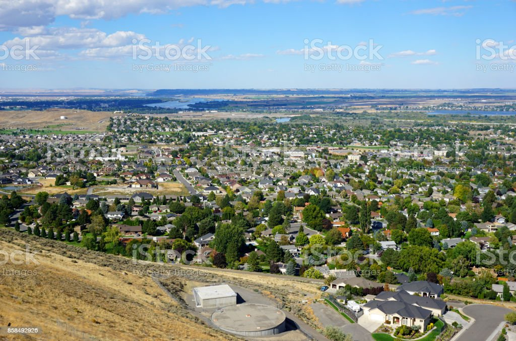 Tri-cities washington stock photo