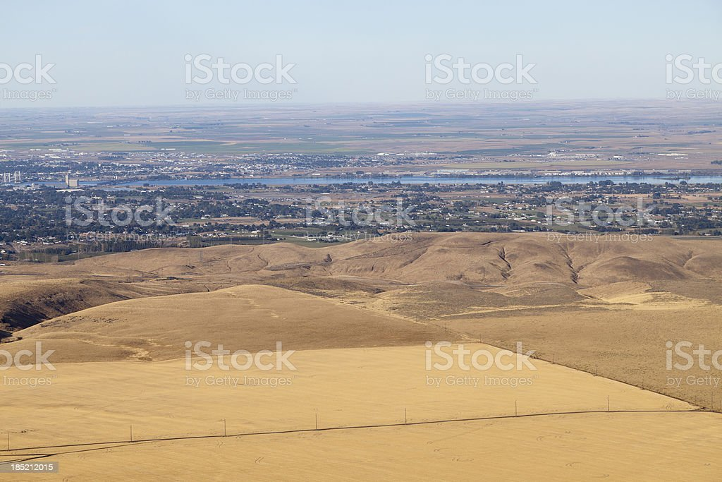 \'Tri-Cities, Washington State. Pasco in background, Kennewick in...