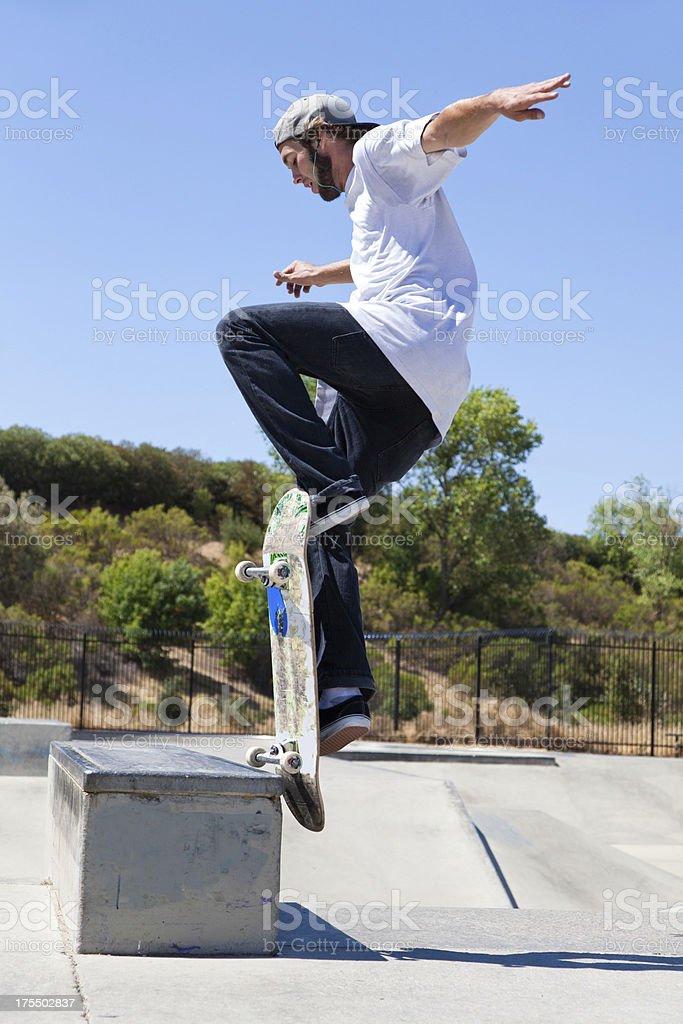 Trick On Skateboard royalty-free stock photo