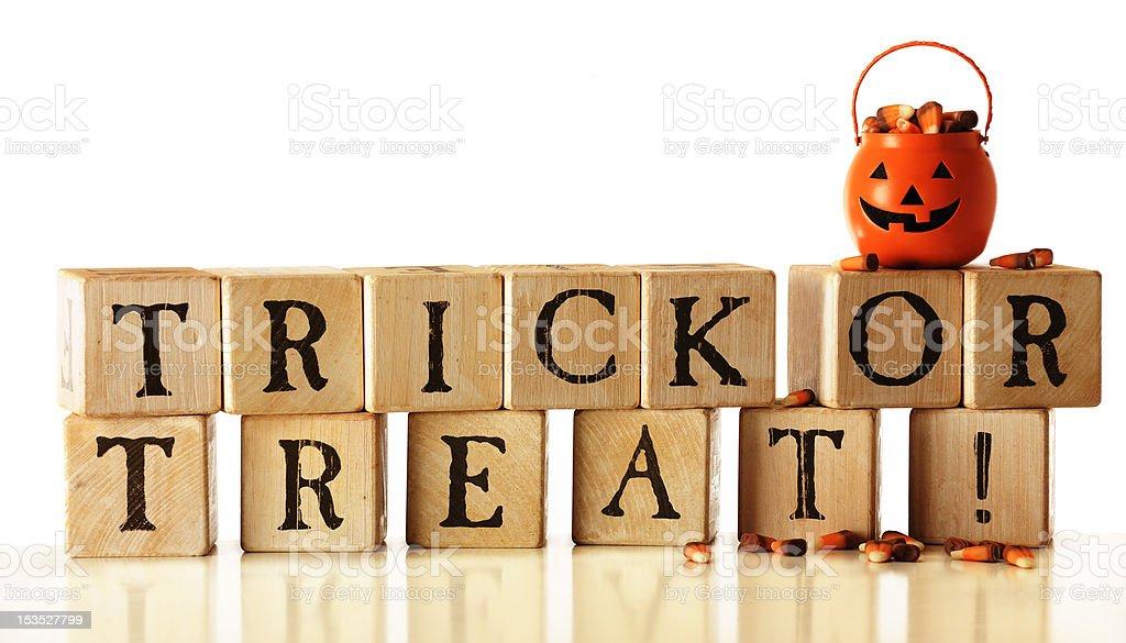 Trick or Treat Blocks stock photo