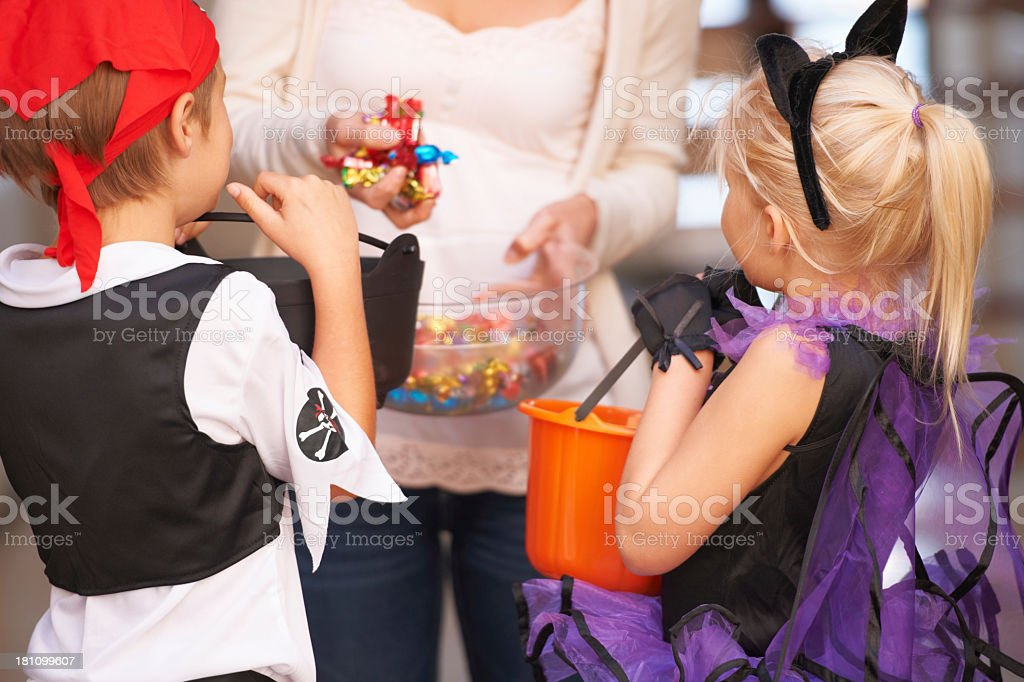 Trick or treat - childhood activities stock photo