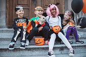 istock Trick or treat gang 1183576906