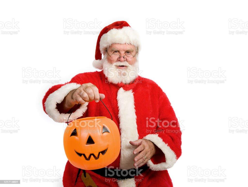 Trick or Treating Santa Claus royalty-free stock photo
