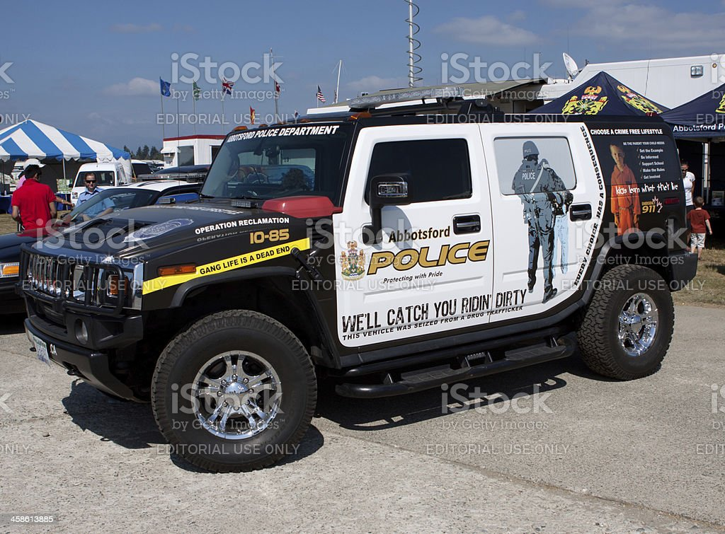 Tricked Out Police Rig stock photo