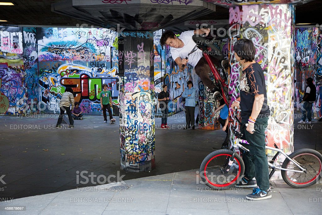 BMX Tricks stock photo