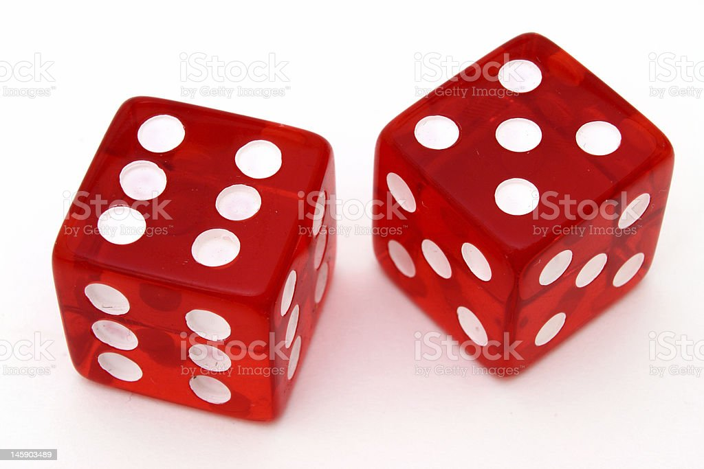 tricky dice stock photo