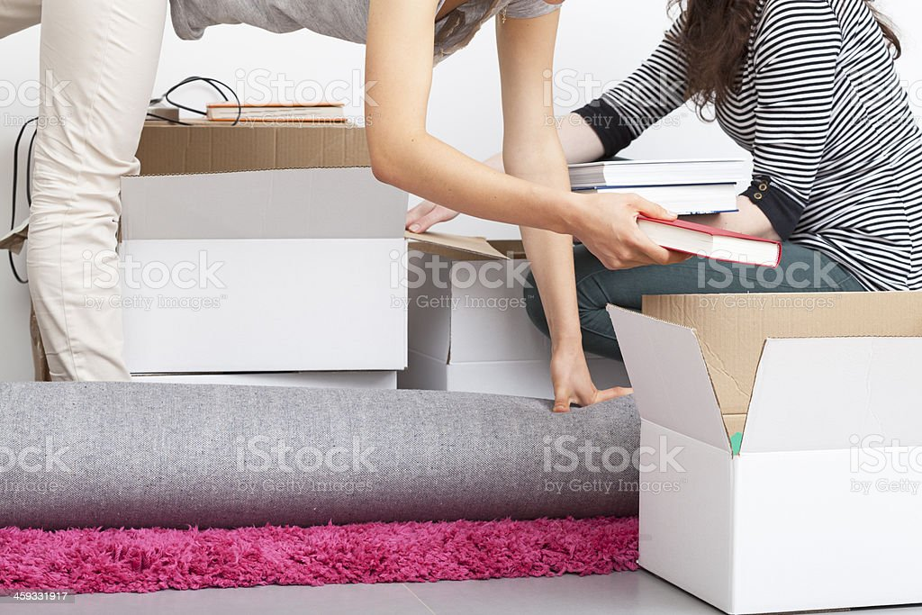 Tricky packing excercise stock photo