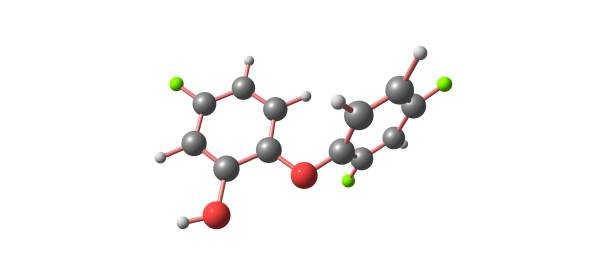 Triclosan acid molecular structure isolated on white – zdjęcie
