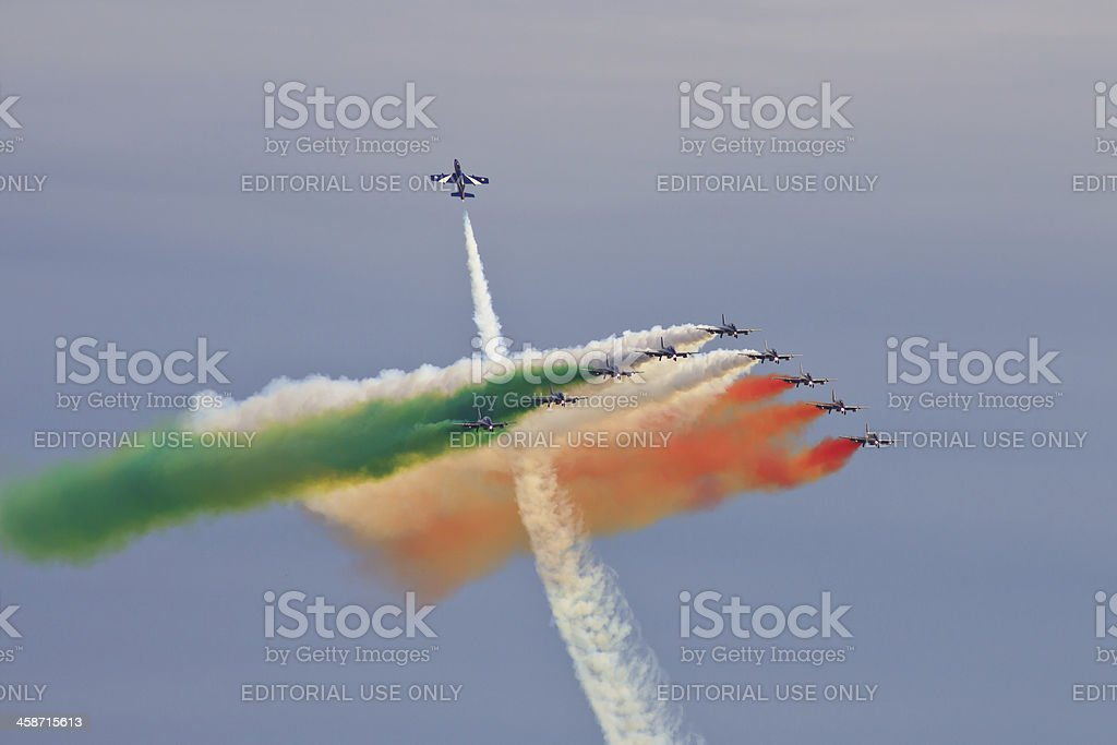 Frecce Tricolori royalty-free stock photo