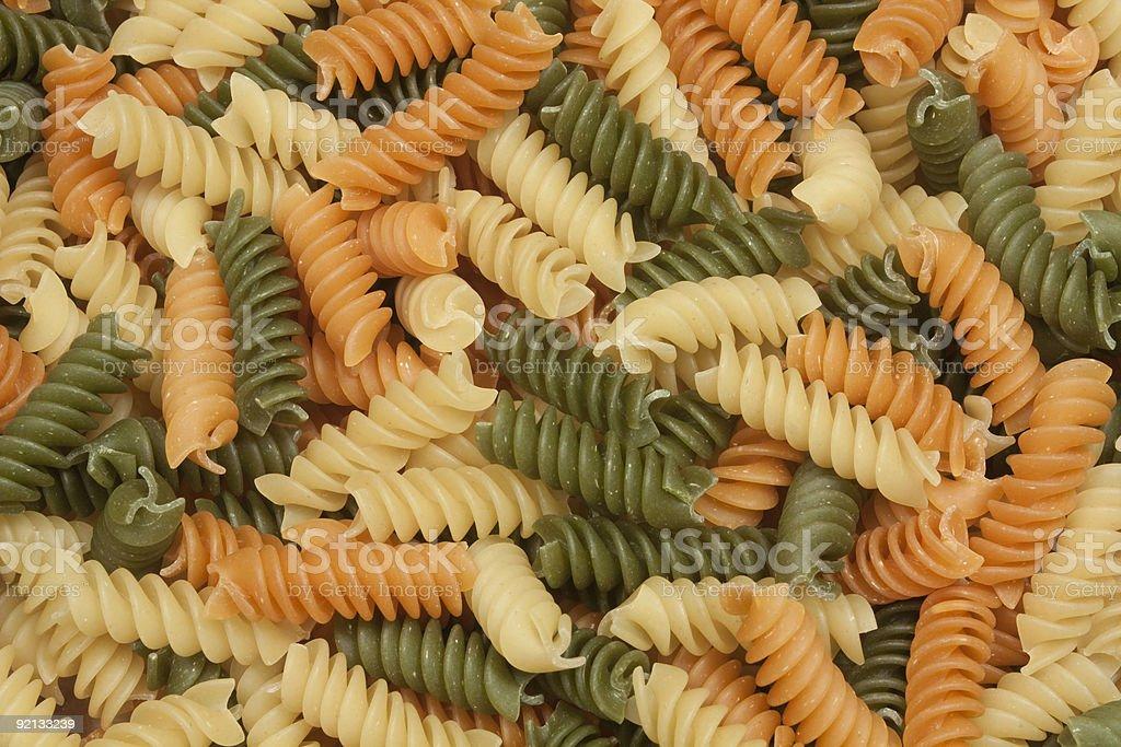 Tri-Color Pasta Background stock photo