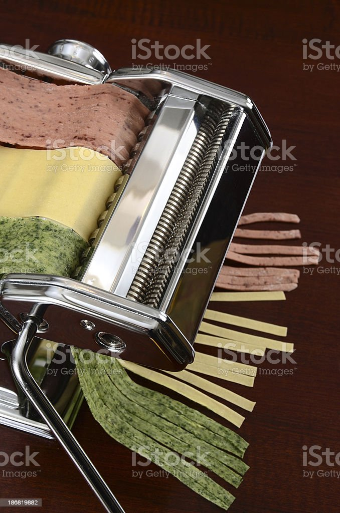 Tricolor Pasta royalty-free stock photo