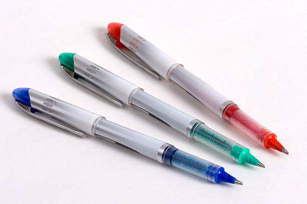 Tricolor Pens stock photo
