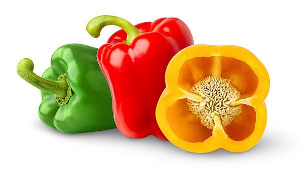 bell paprika - grüne paprikaschoten stock-fotos und bilder