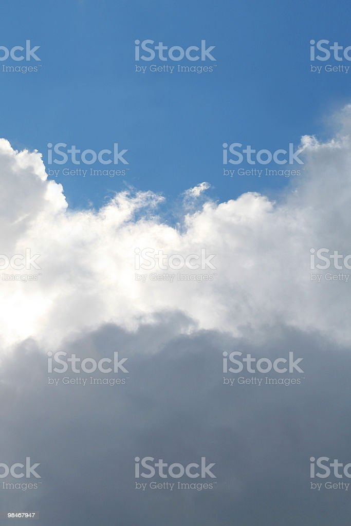 Tri-Coloured Sky royalty-free stock photo