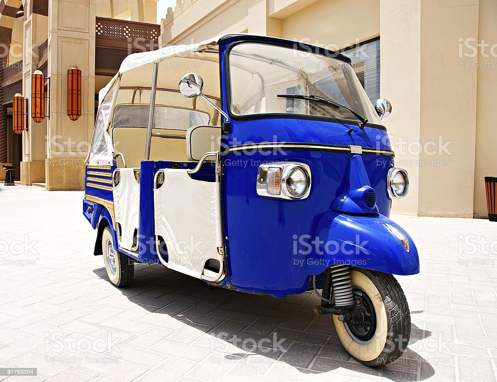 Tricycle in Qatar royalty-free stock photo