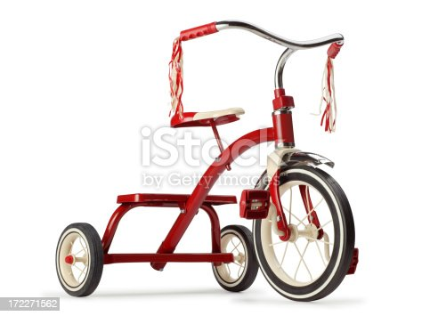 A classic red tricycle