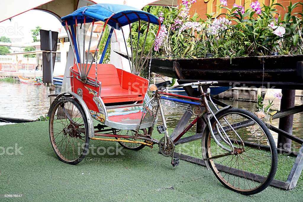 Tricycle stock photo