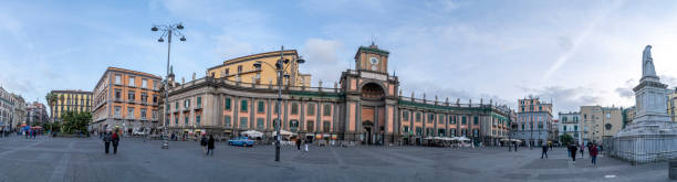 naples, italy - january 30 2020 - triest and trent place - napoli piazza plebiscito foto e immagini stock