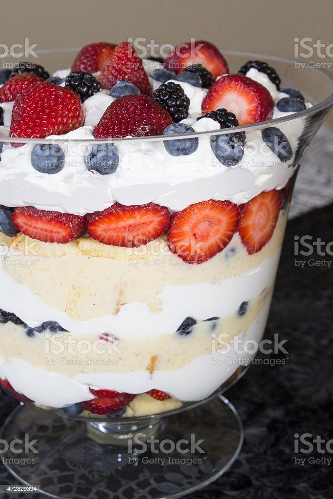 Trifle Dessert stock photo