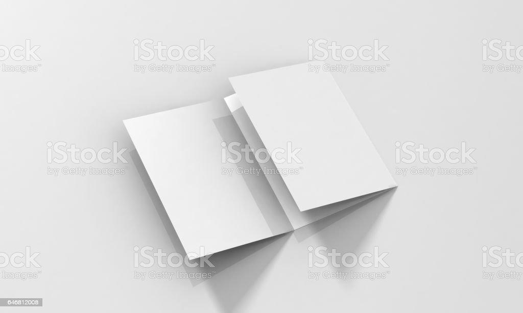 Tri-Fold A5 Brochure Mock-up stock photo