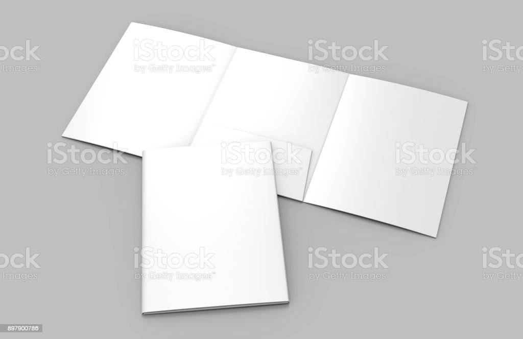 trifold blank white reinforced a4 middle single pocket folder